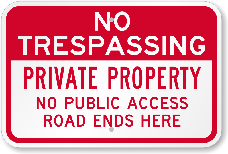 Buy All No Trespassing Signs