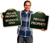 Elegant Private Property Signs