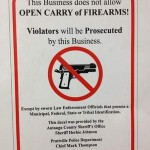 Sheriffs offer 'No Open Carry' signs to businesses