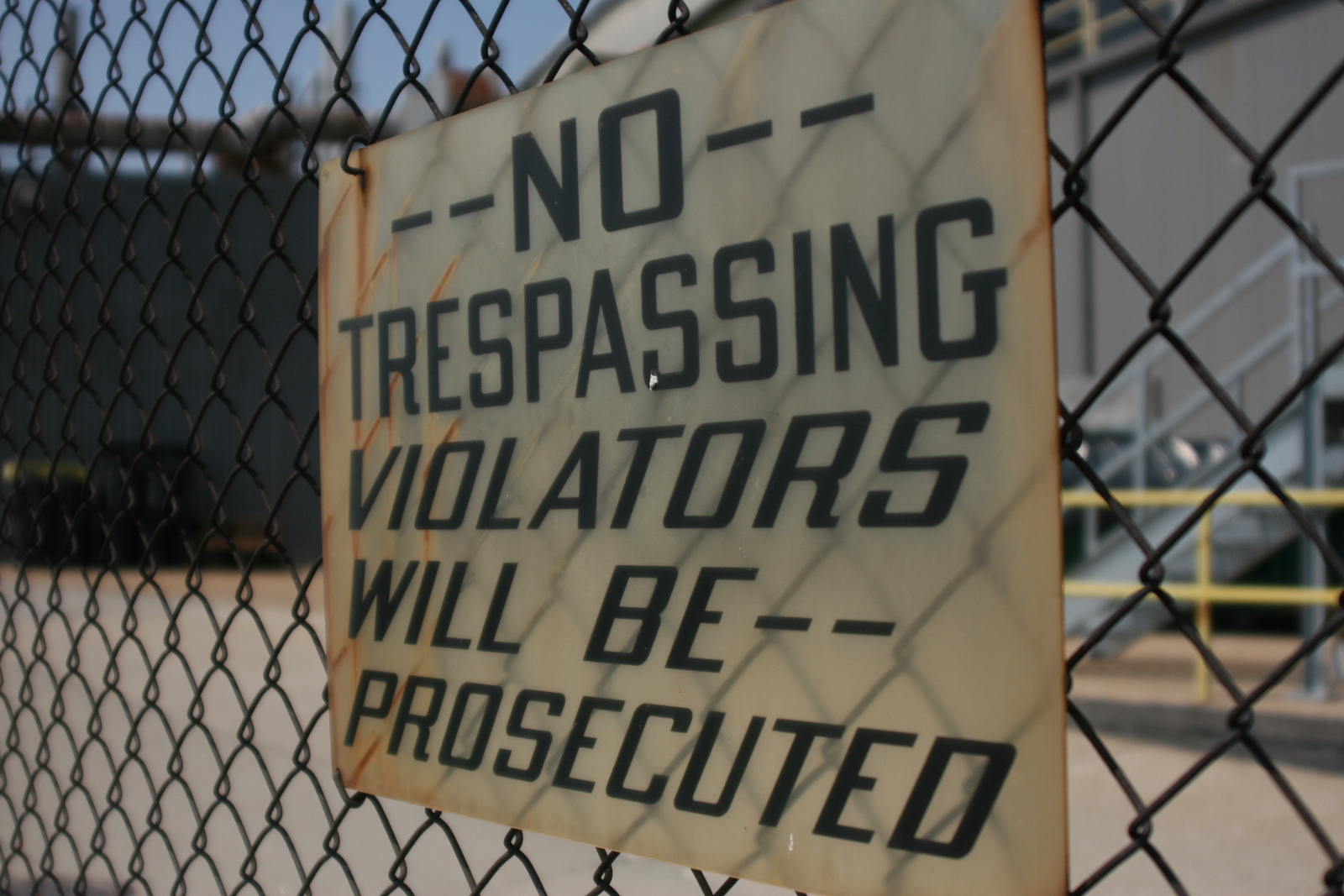 no trespassing letter