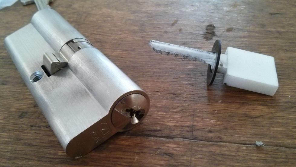 3D-printed bump key