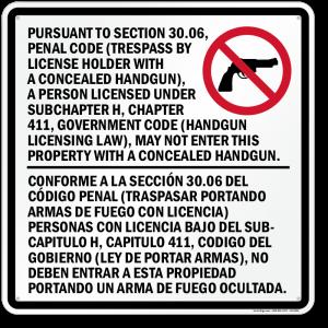Making sense of Texas gun signs