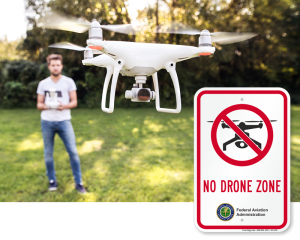 No Drone Sign by FAA