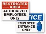 Employees Only Signs for Outdoors