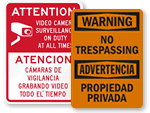 Bilingual No Trespassing Signs