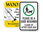 Clean Up After Your Dog Signs | Clean Up Dog Poop Signs