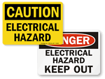 Electrical Hazard Signs