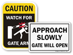 Gate Security Signs