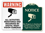 Night Vision Camera Signs