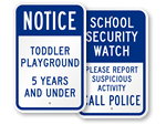 Playground Signs For Schools