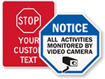 STOP – CCTV Monitored