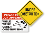 Under Construction Signs