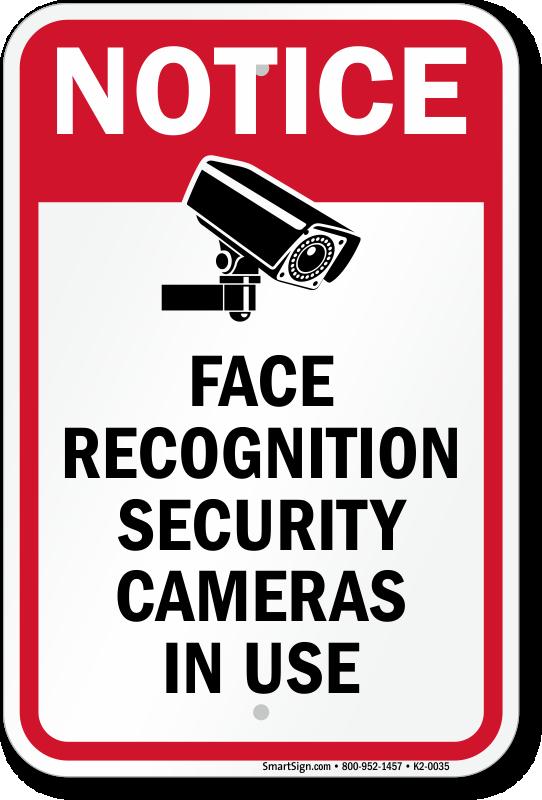3M REFLECTIVE SURVEILLANCE CAMERAS SIGN CCTV SECURITY