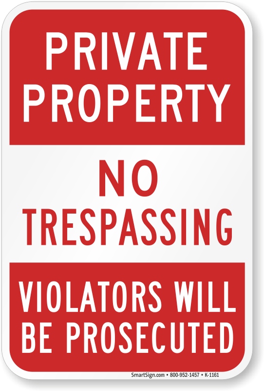 picture relating to Printable No Trespassing Sign known as Particular Residence No Tresping Violators Prosecuted Indication