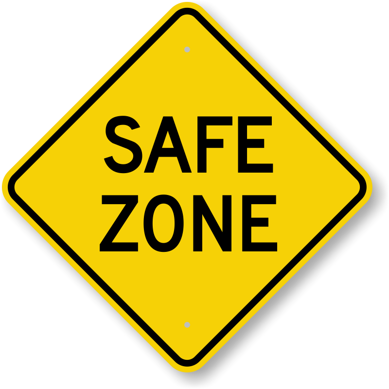 Safe Zone Sign Diamond Shaped Sku K 0417