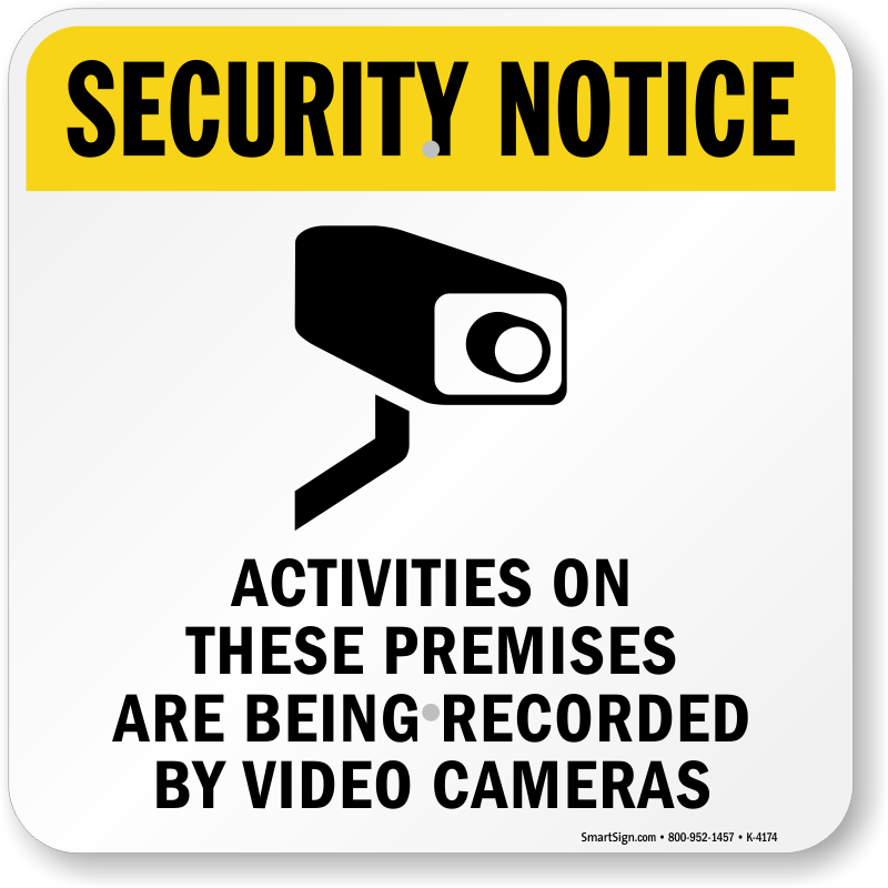 graphic about Video Surveillance Sign Printable identify Basic safety Consideration Routines Upon All those Premises Recorded Indicator