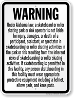 Skateboard Law Sign For Alabama