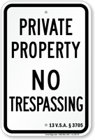 Vermont No Trespassing Sign