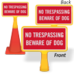 ConeBoss No Trespassing Sign