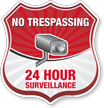 No Trespassing Shield Sign