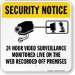 CCTV Security Notice Sign