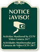 Bilingual CCTV Surveillance SignatureSign