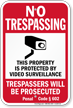 California No Trespassing Sign