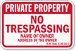 Custom New Mexico Private Property Sign