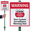Custom 24 Hour Surveillance LawnBoss® Sign & Stake Kit