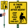 Funny Dog Warning LawnBoss® Sign & Stake Kit