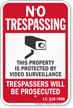 Idaho No Trespassing Sign