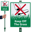 Keep Off Grass LawnBoss® Sign & Stake Kit