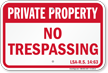 Louisiana Private Property Sign