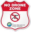 No Drone Shield Sign