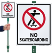 No Skateboarding LawnBoss® Sign & Stake Kit