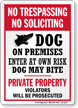 No Trespassing Soliciting Dog On Premises