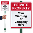 Custom Private Property LawnBoss® Sign & Stake Kit