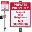 Private Property LawnBoss® Sign & Stake Kit