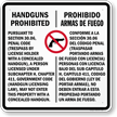 Bilingual Texas Gun Law Sign