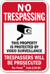 Texas No Trespassing Sign