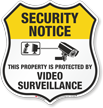 Security Notice Shield Sign