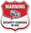 Video Surveillance Shield Sign