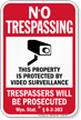 Wyoming No Trespassing Sign
