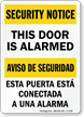 Bilingual OSHA Security Notice/Aviso Sign