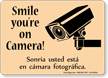 Bilingual CCTV Surveillance Sign