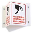 Video Surveillance Projecting Sign