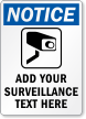 Notice Video Surveillance Sign