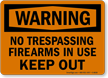Shooting Range Warning Sign
