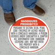 SlipSafe™ Floor Sign - Texas Concealed Carry Regulations