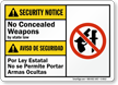Bilingual ANSI Security Notice Sign